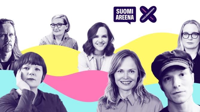 SuomiAreena-tapahtuman kaikki esiintyjät tapahtuman visuaalisessa ilmeessä